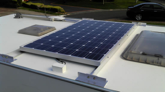 mounted solar panel pic