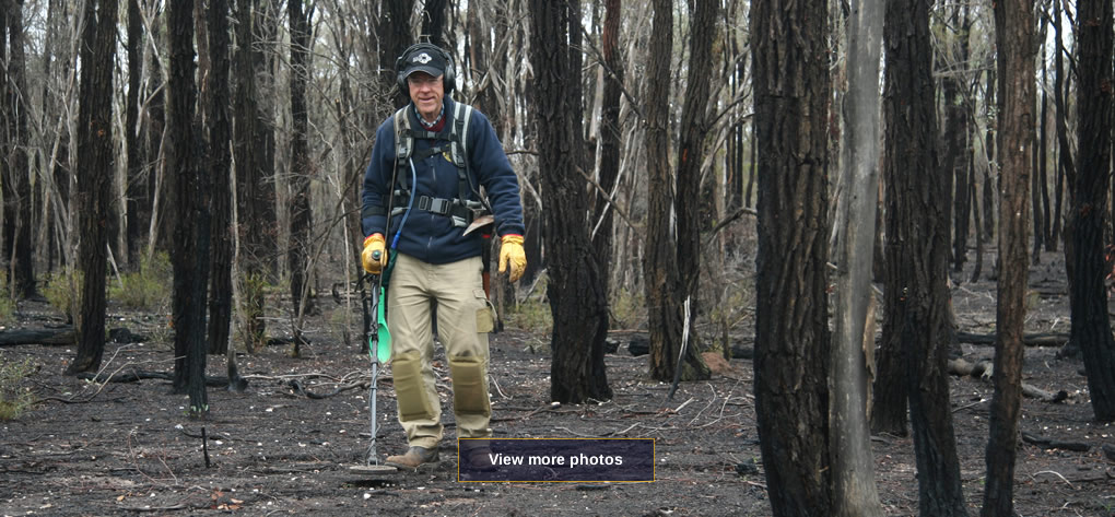 Gold Prospecting in Fire Ravaged Bush